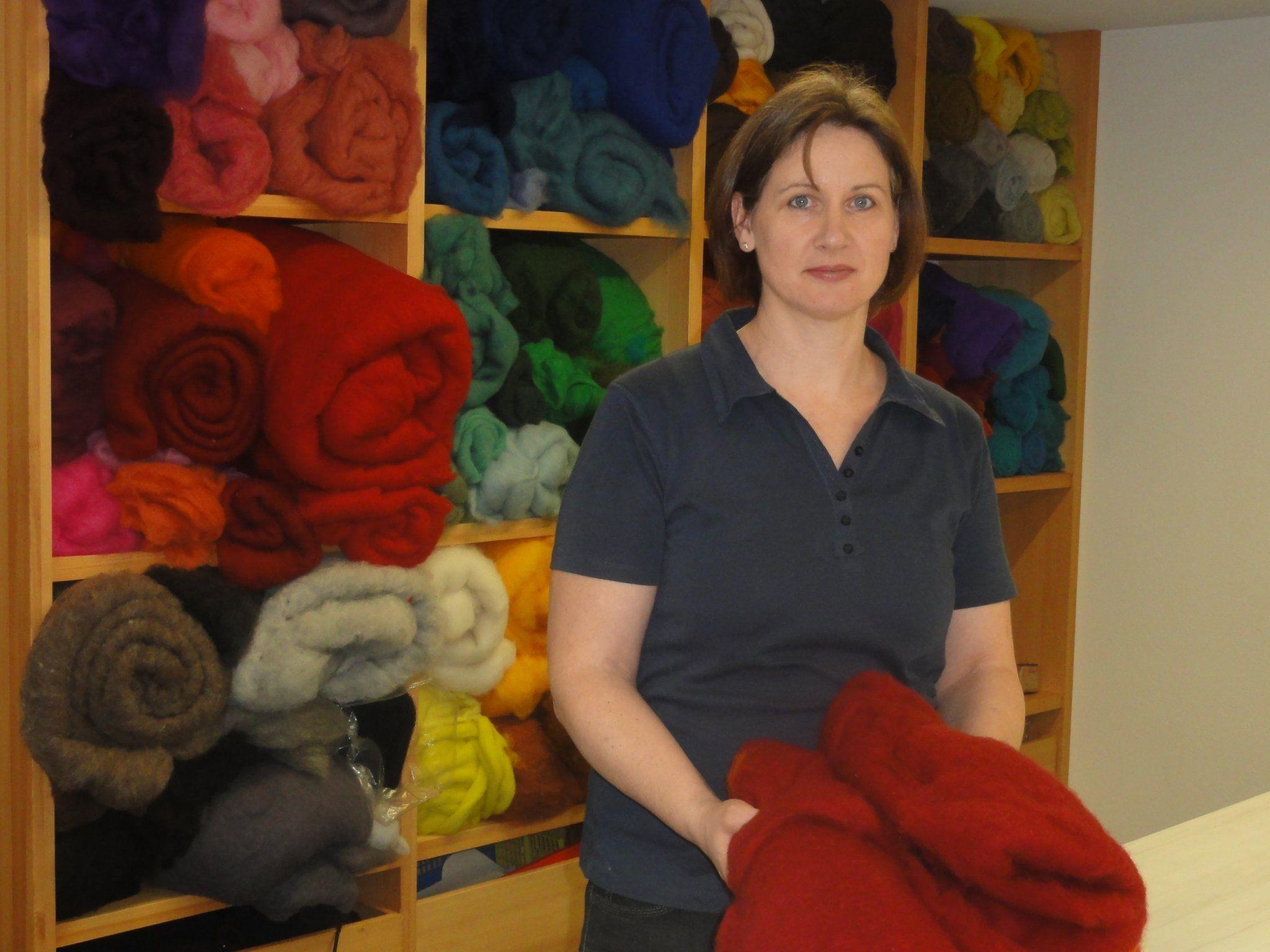Marianna Moosbrugger startete ein Filzprojekt in Albanien.