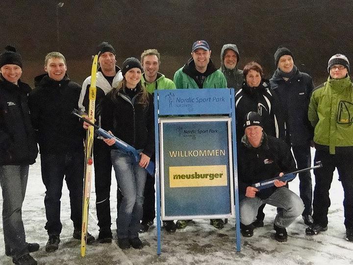 Firmenangehörige von MEUSBURGER nutzten das Nordic Sport Park Angebot in Sulzberg.