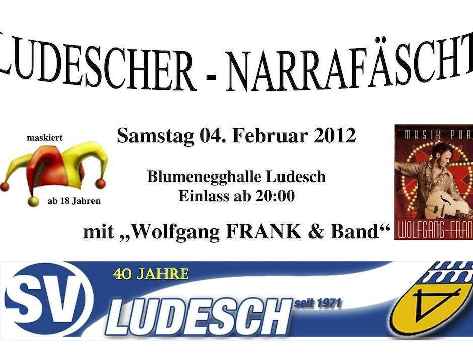 Ludescher - Narrafäscht am 04.Februar in der Blumenegghalle Ludesch