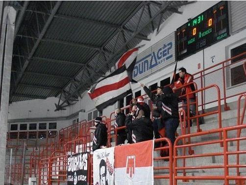 VEU Fans in Dunaujvaros (Ungarn)