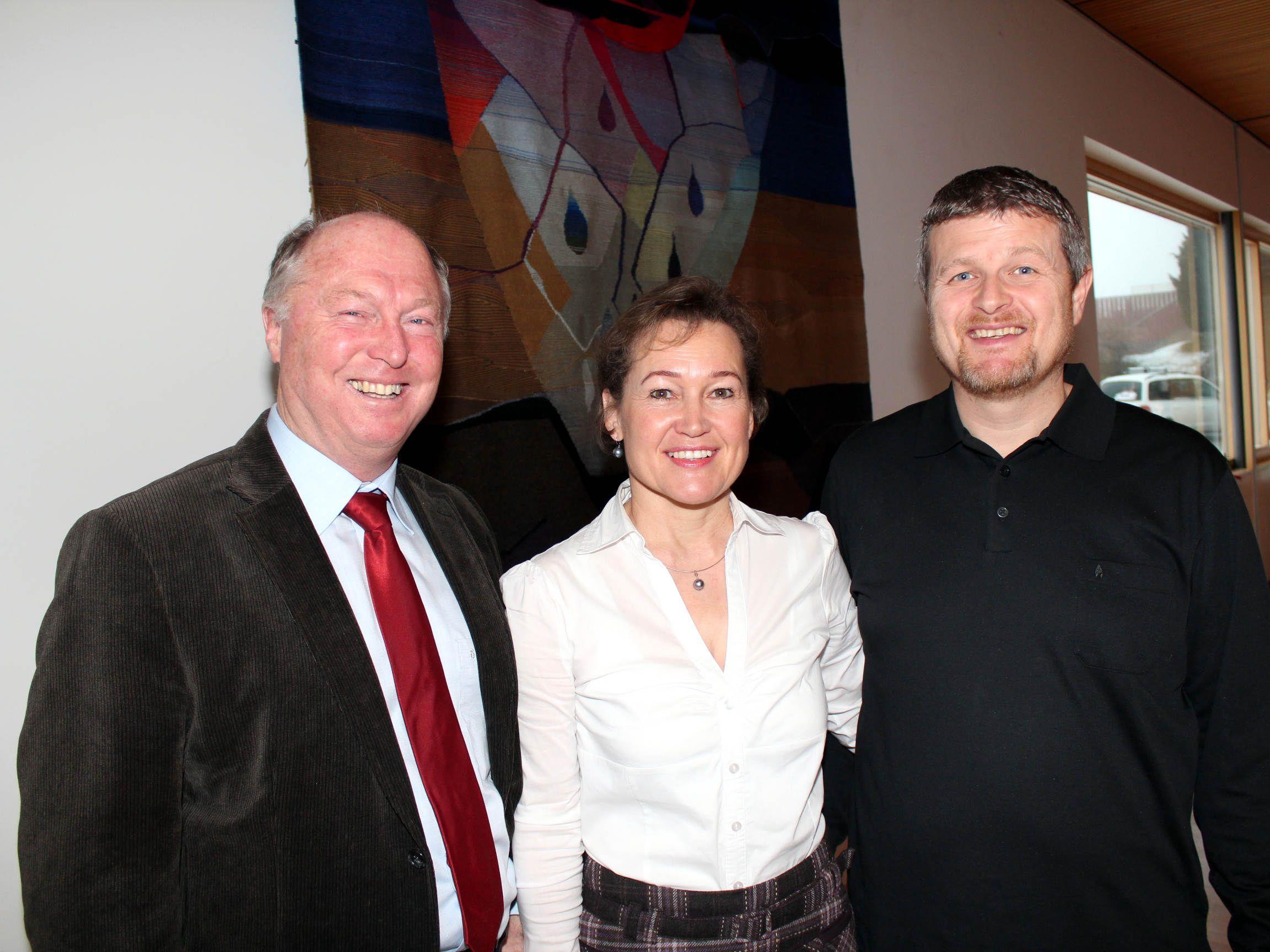 Bgm. Egon Troy, Birgit Giselbrecht-Plankel und Markus Böhler.