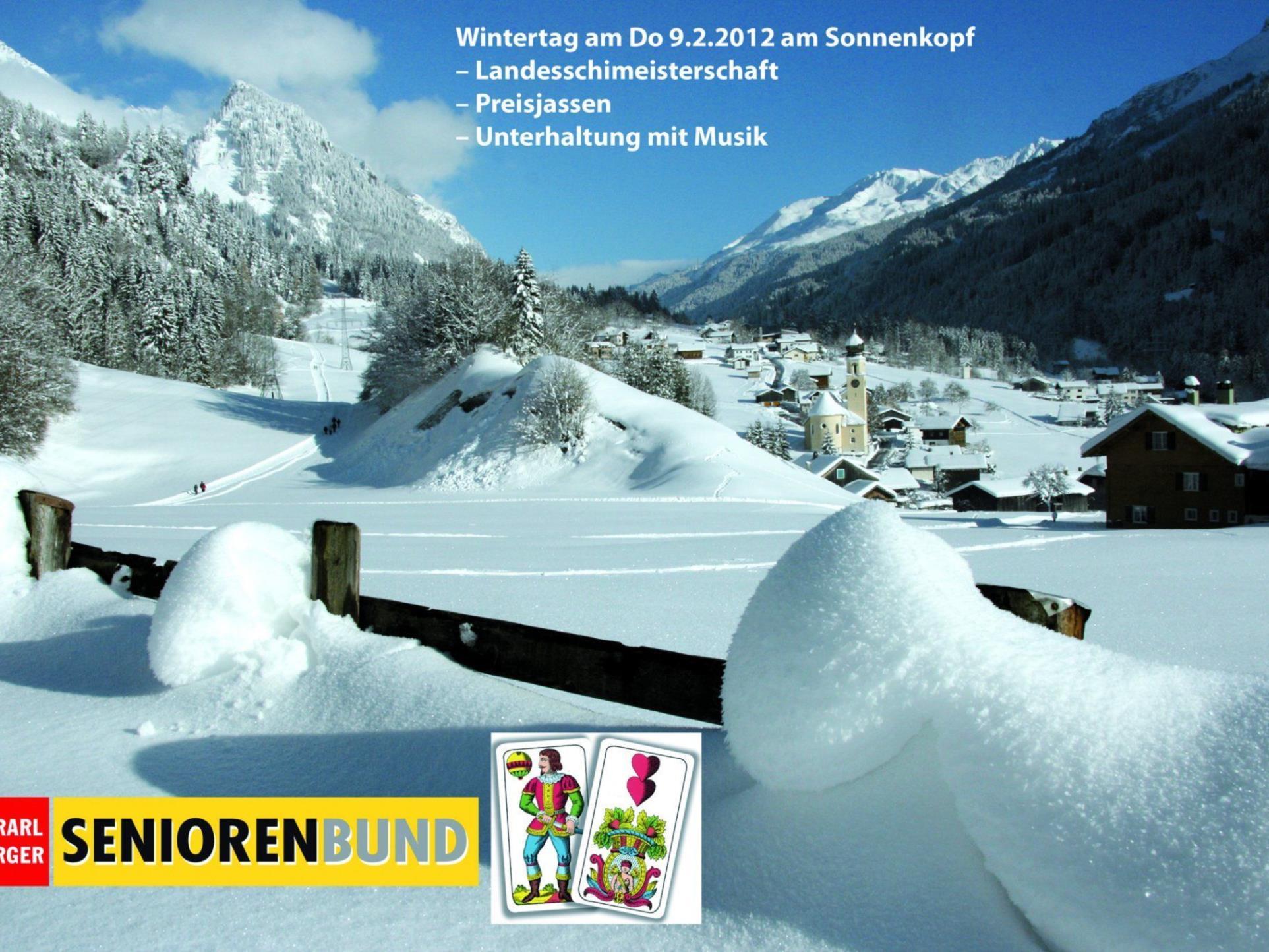 Der Vorarlberger Seniorenbund lädt ein zum Wintertag nach Dalaas.