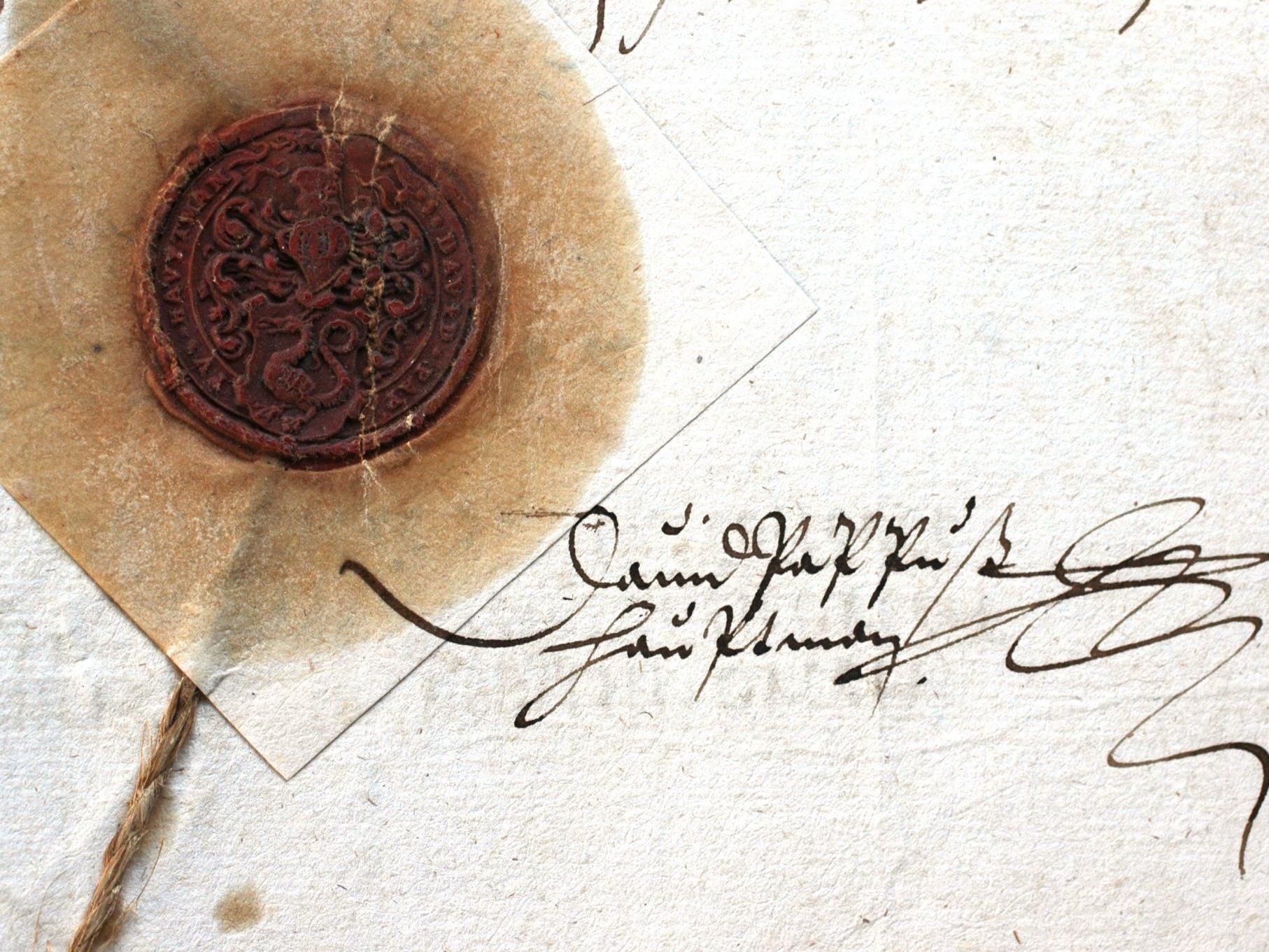 Unterschrift und Siegel David Pappus