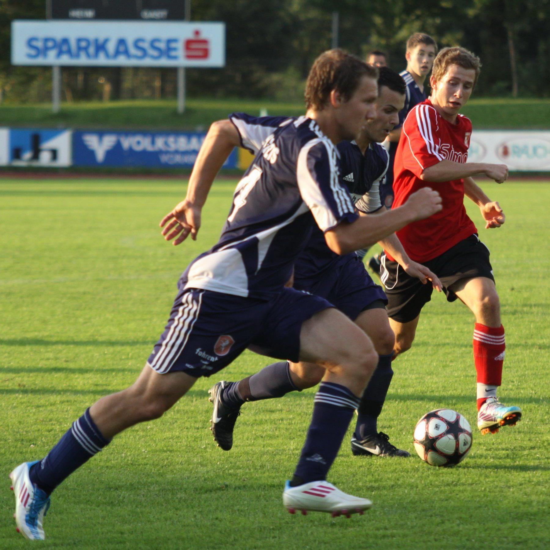 Schon viele neue Spieler beim Vollbad FC Götzis.
