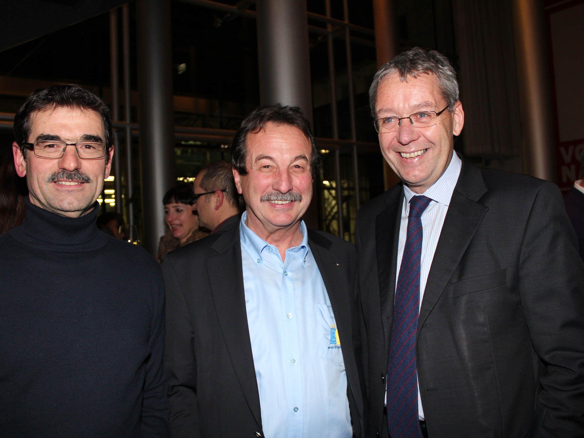Josef Muxel, LStH Karlheinz Rüdisser und KR Walter Eberle