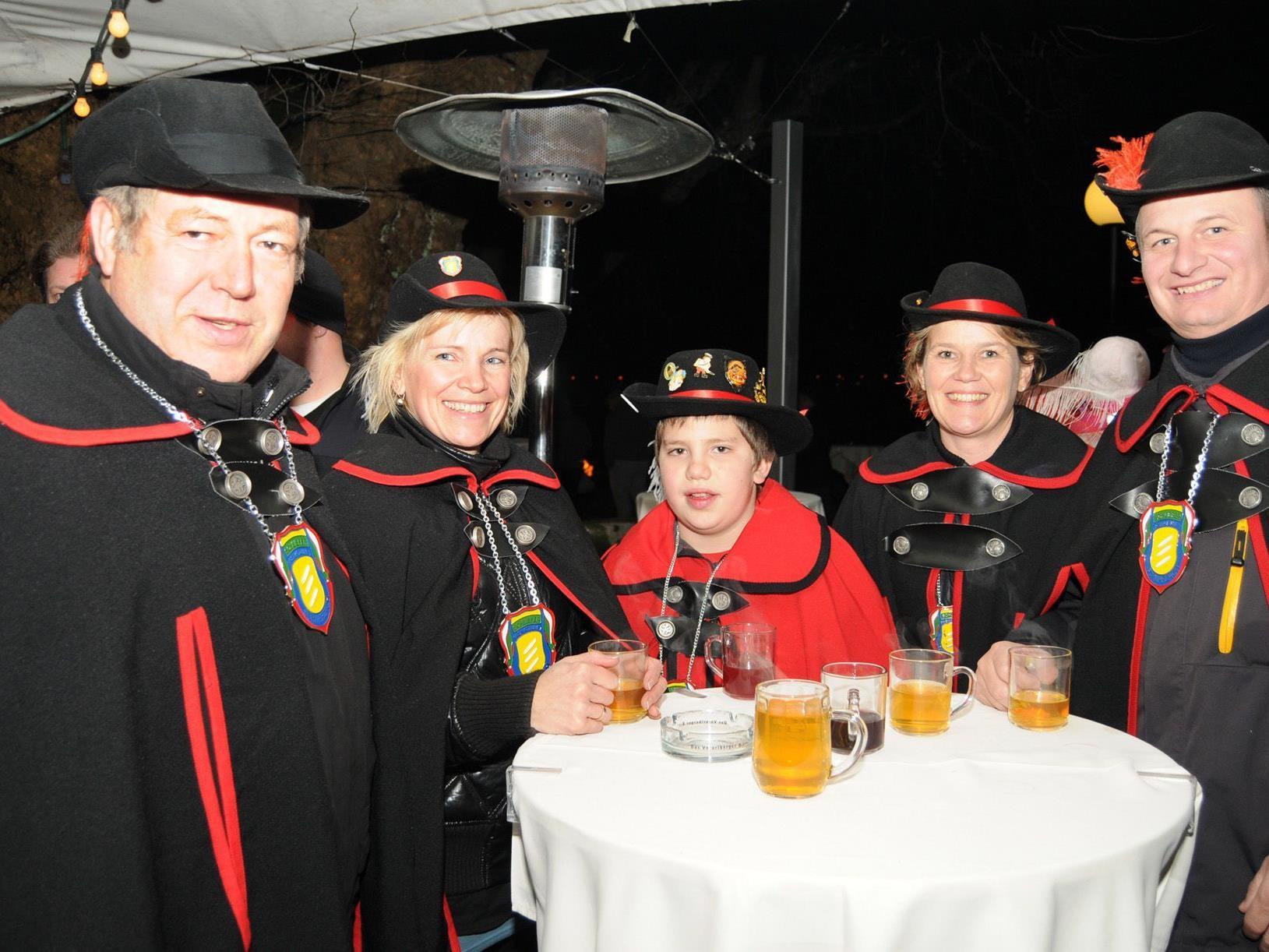 Die einstigen Oberschlieferpaare auf Gastbesuch beim Bregenzer Ore-Prinzen.