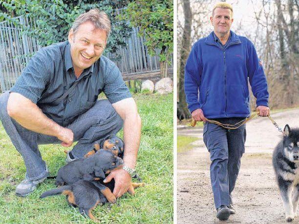 Markus Fröhle (l.) setzt ebenso wie Albert Rabatscher auf humane Hundeausbildung.
