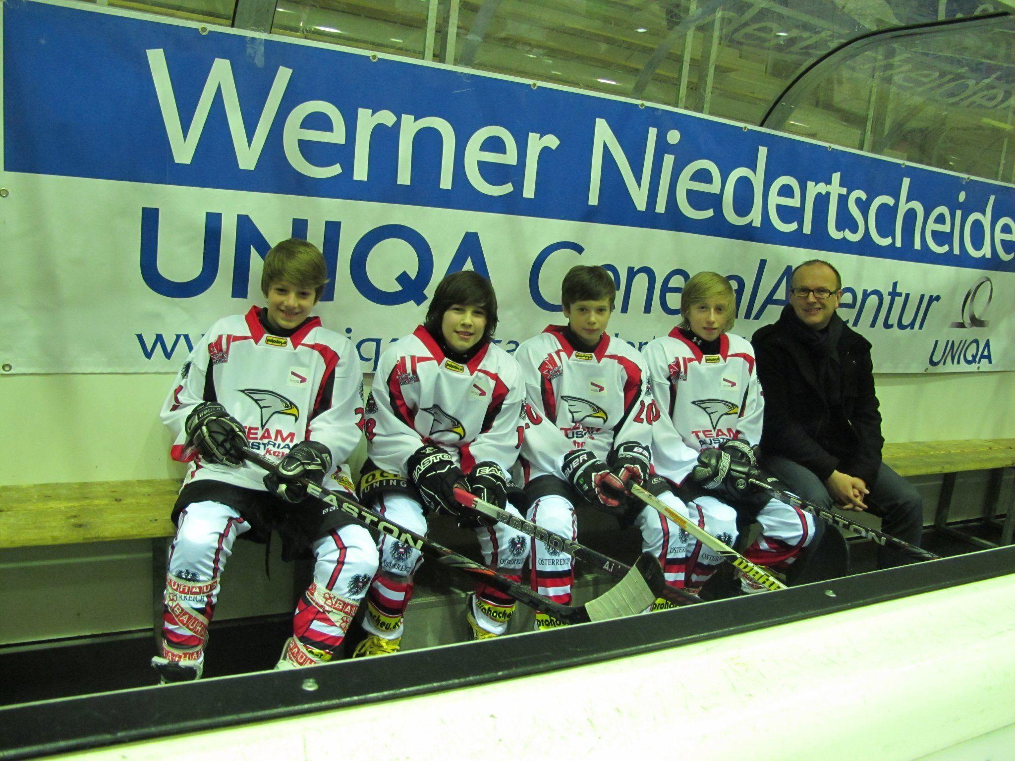 Ein Vorarlberger Quartett befindet sich auf den Spuren von Thomas Vanek.