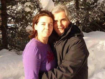 Kanzler Werner Faymann mit Gattin Martina im Schnee