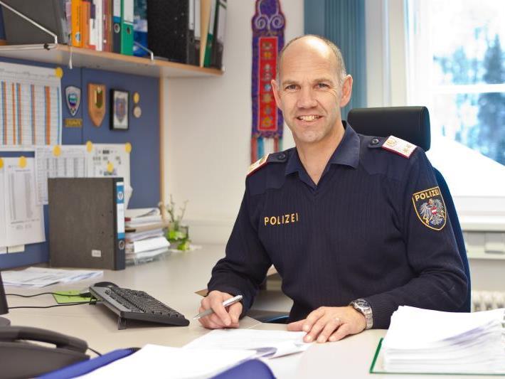 """""""Das gesunde Miteinander in der Dienststelle ist für mich besonders wichtig"""": Schuchter als Kommandant der Polizeiinspektion Gaschurn."""