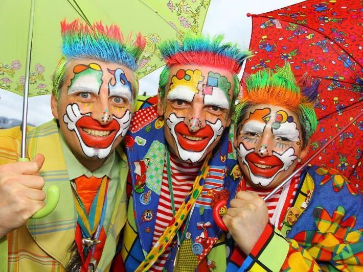Die Clowns Martin, Manfred und Philipp aus Bludenz sorgten in Koblach für gute Stimmung.