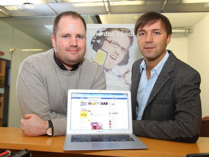 ANTENNE VORARLBERG-Programmleiter Dirk Klee und Geschäftsführer Mario Mally.
