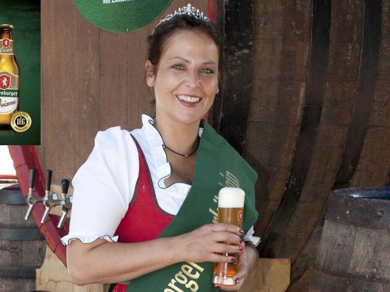 Zweimal Silber und einmal Gold: Da freut sich auch Bierkönigin Sabine.