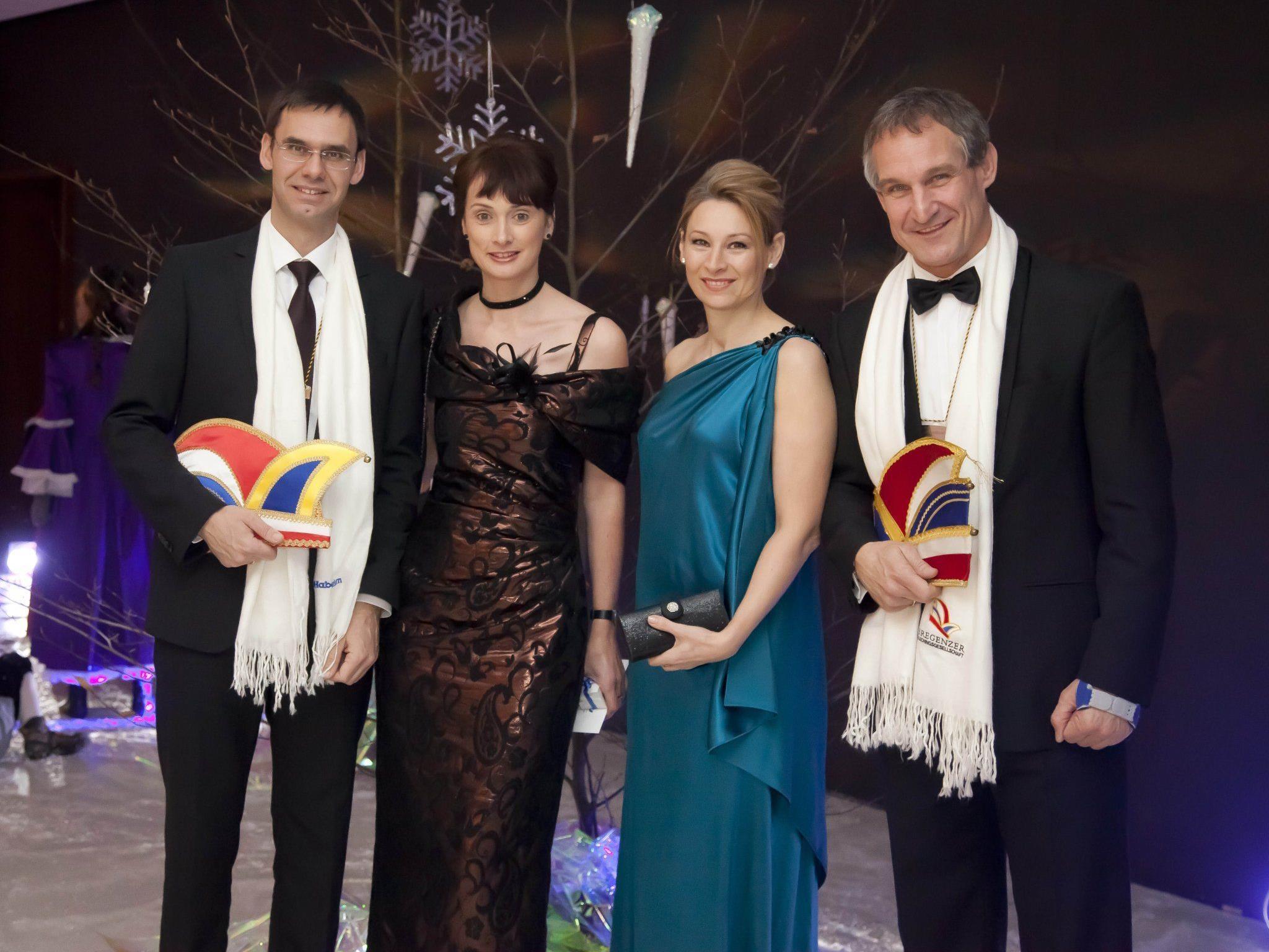 LH Markus Wallner mit Sonja sowie Manuela und Markus Linhart.