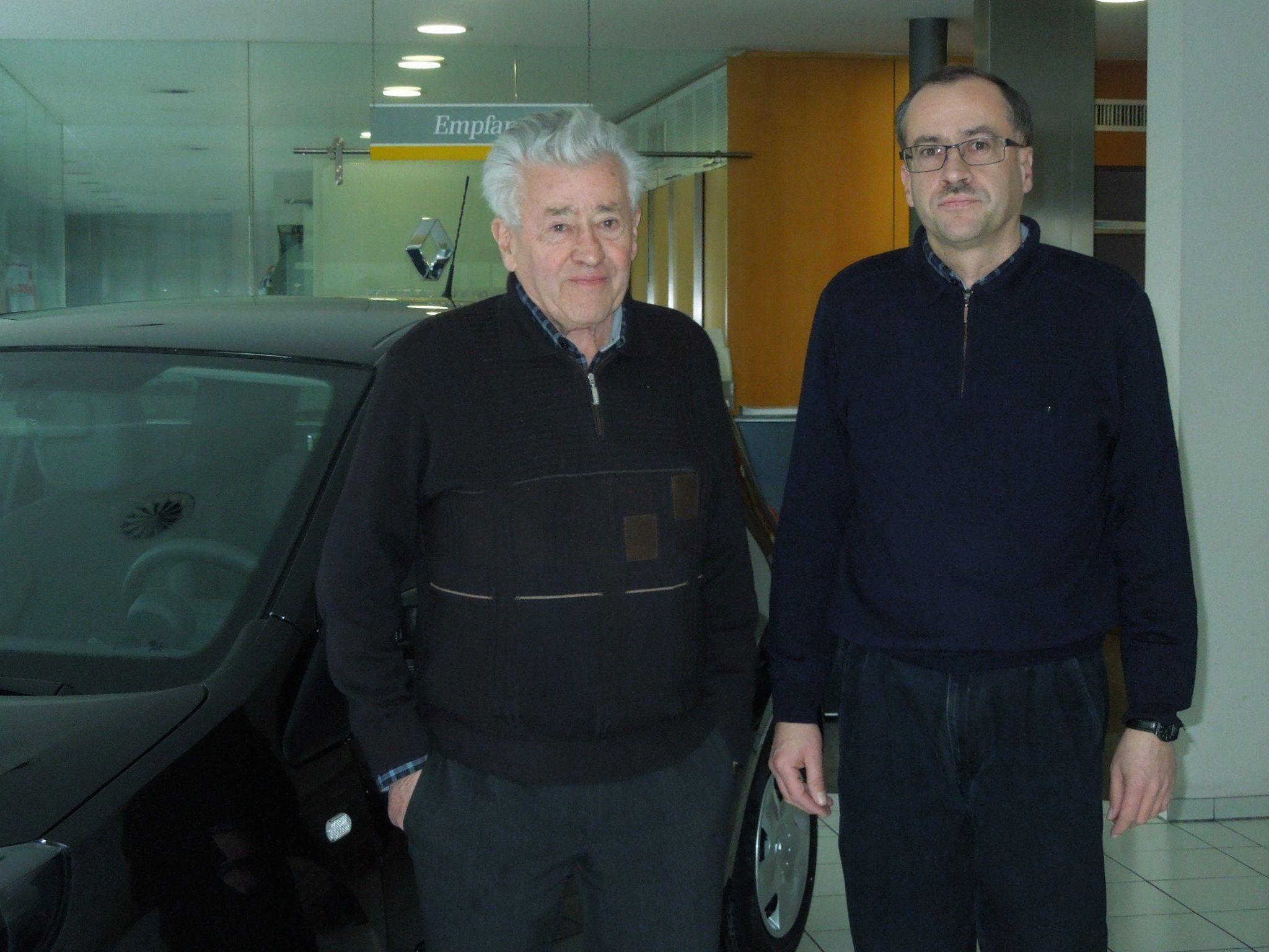 Ludwig Winder unterstützt heute noch gerne seinen Sohn Gerhard im Geschäft.