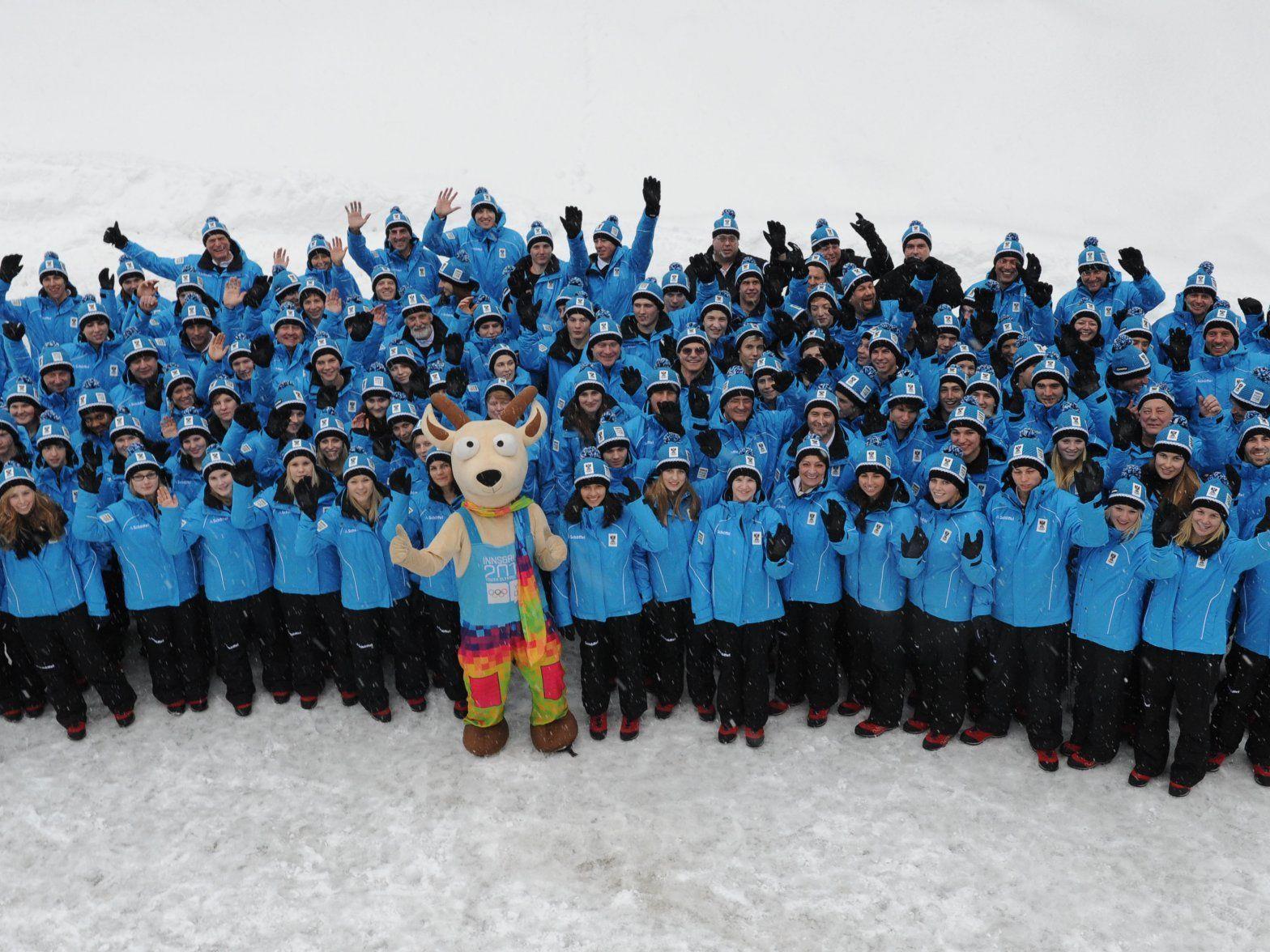 Die österreichischen Teilnehmer für die Jugend-Winterspiele.