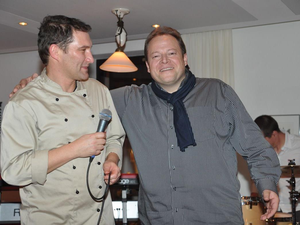 """Klaus Pleifer und Mario Borelli luden zum """"Schlemmen mit Klängen""""."""