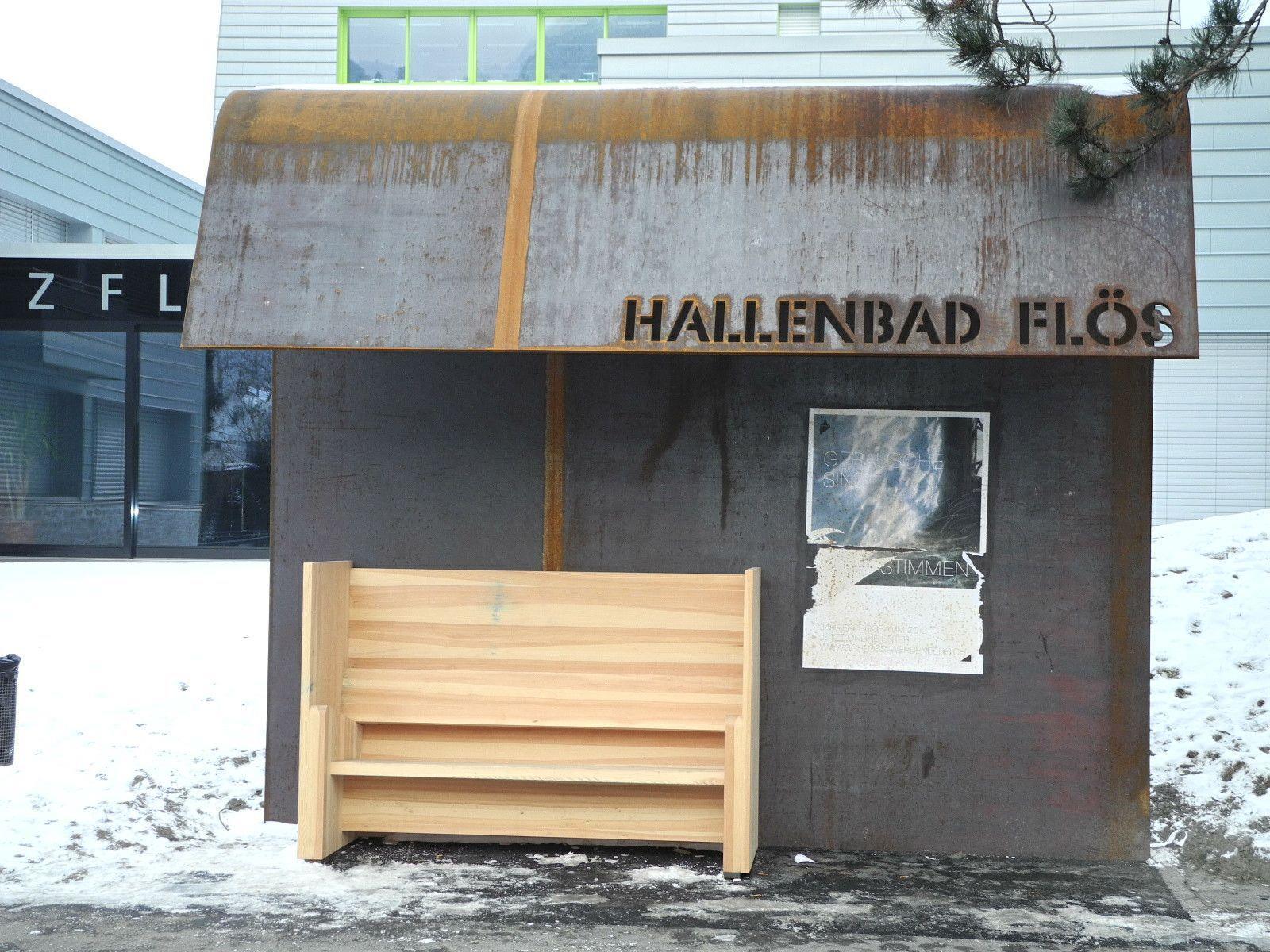 """Das Siegerprojekt """"Arkadia"""", ein Buswartebereich, wurde Buchs/Flös installiert"""