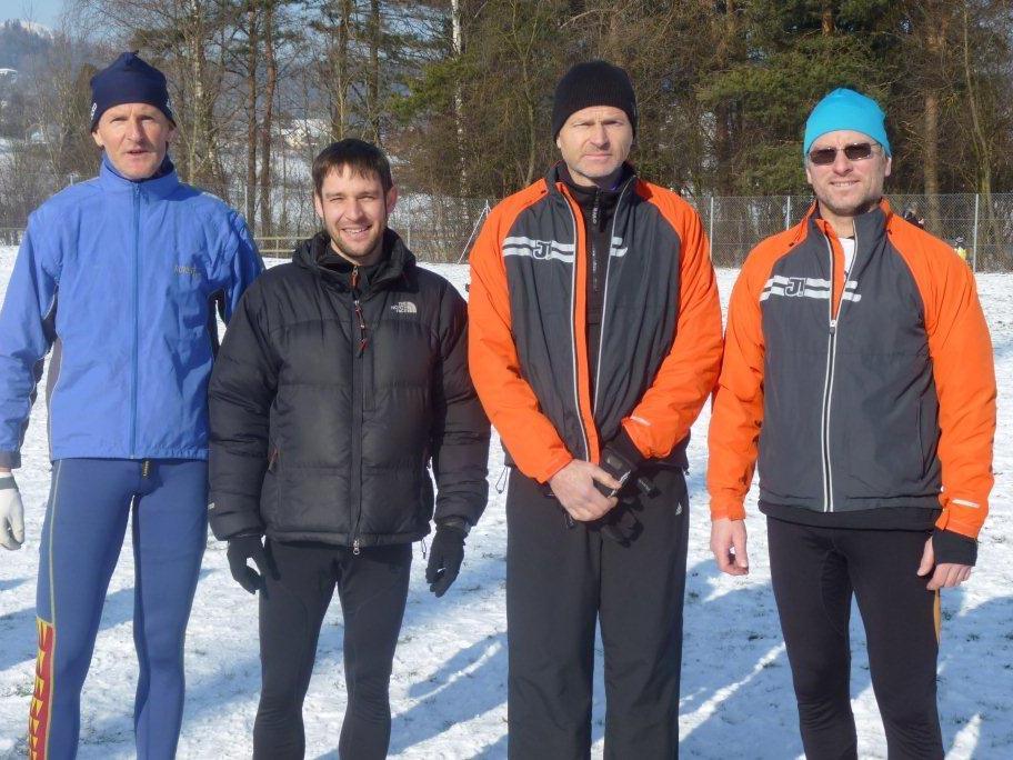Vier Bergläufer die auch im Crosslauf ihre Qualitäten zeigten