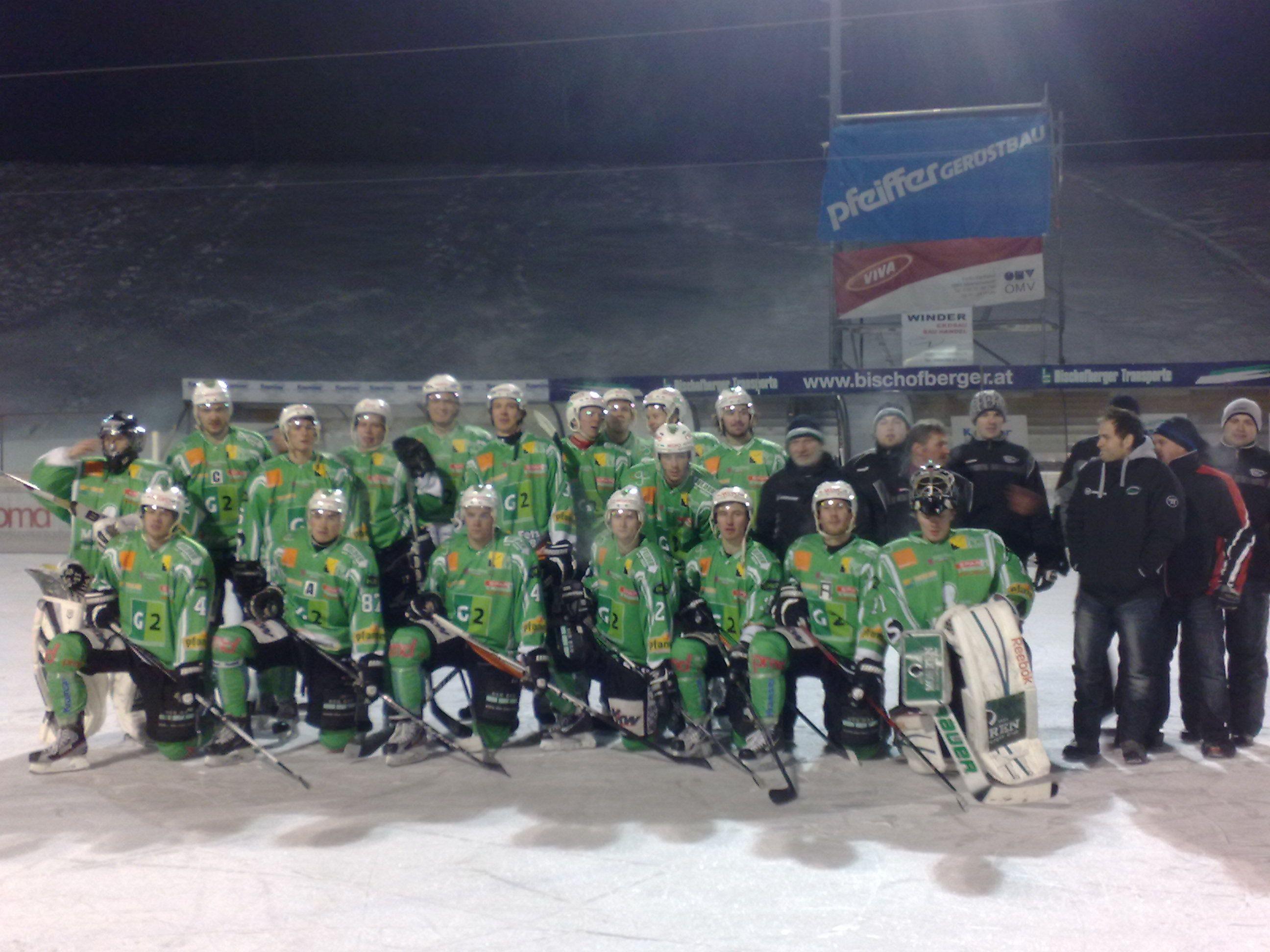 Das Team vom EHC Bregenzerwald hat sich von seinen Fans verabschiedet.