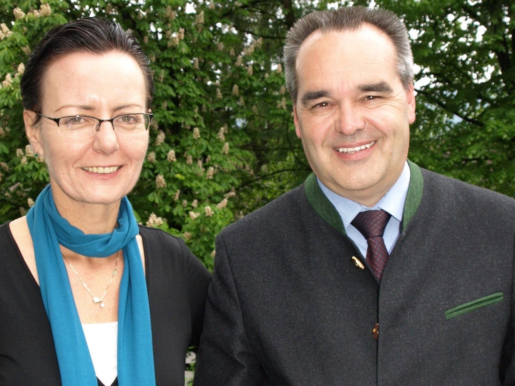 Geschäftsführerin Herlinde Moosbrugger und Tourismuschef Helmut Blank