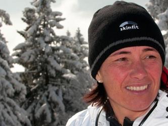 Andrea Hollenstein wurde Landesmeisterin im Skibergsteigen.