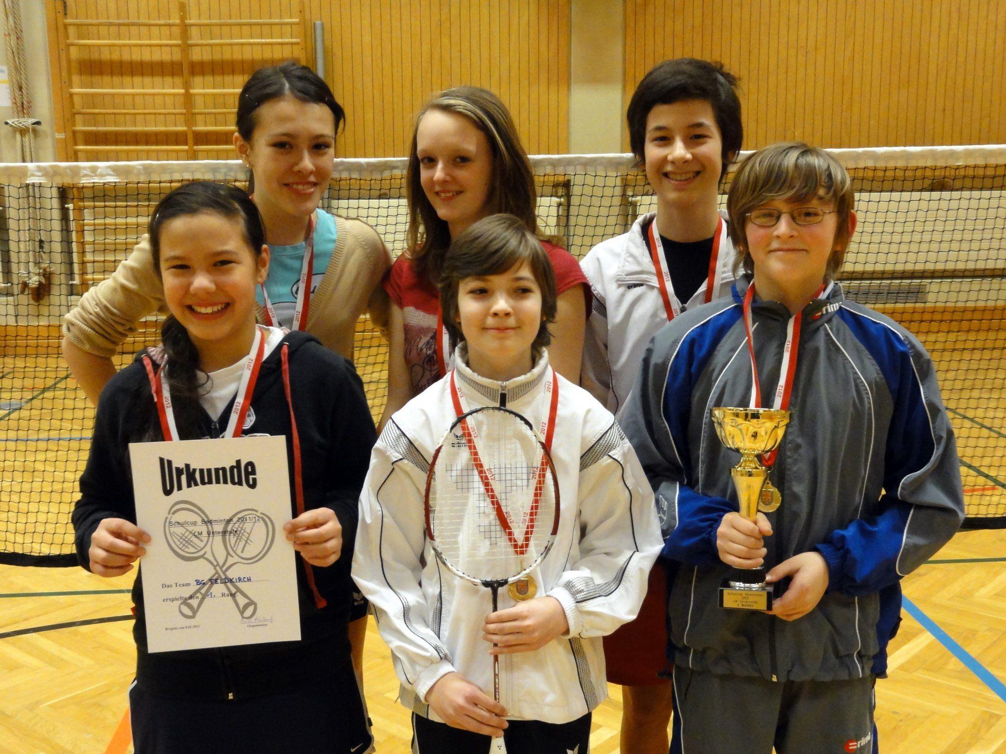 Die glücklichen Sieger des Gymnasiums Feldkirch