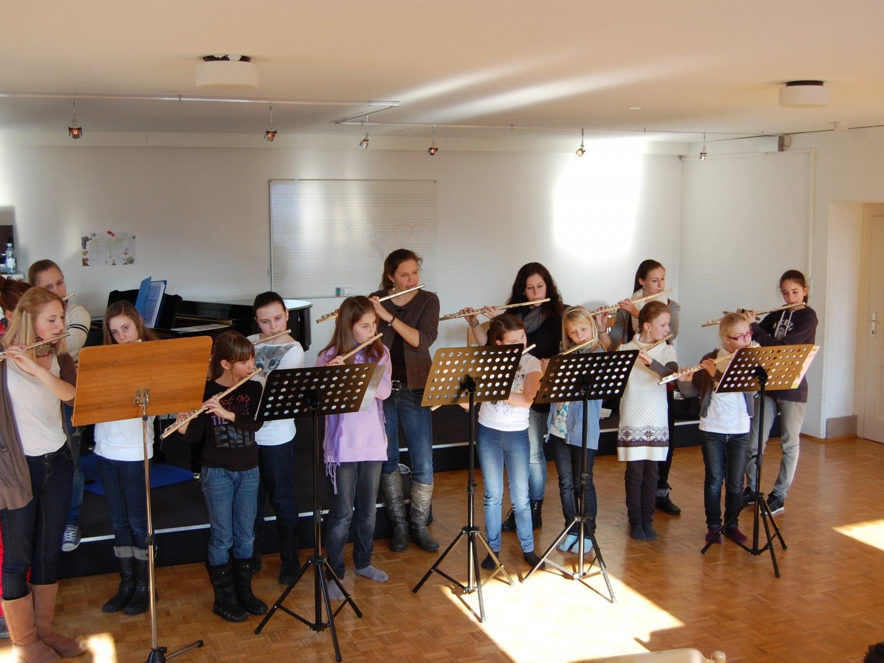 Die Flötentage erbrachten eine spielerische musikalische Weiterbildung.