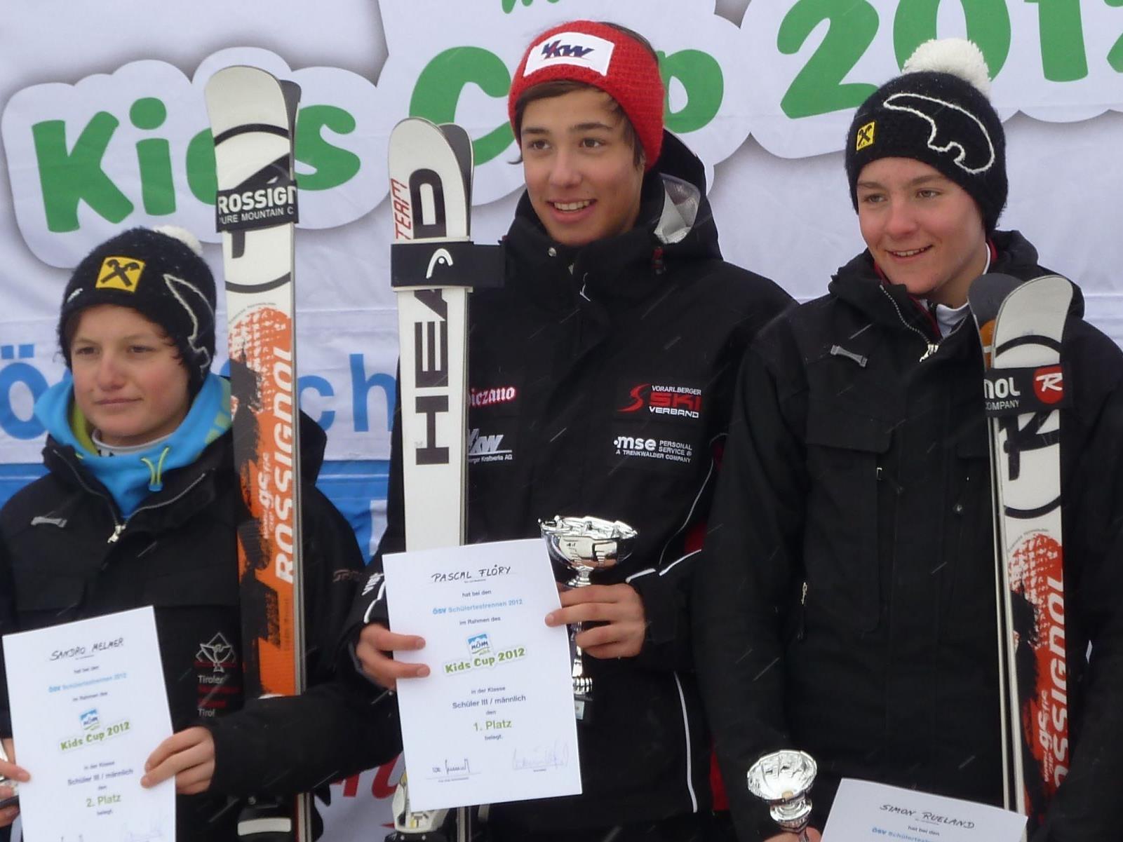 Der Schrunser Flöry gewann das ÖSV-Testrennen.