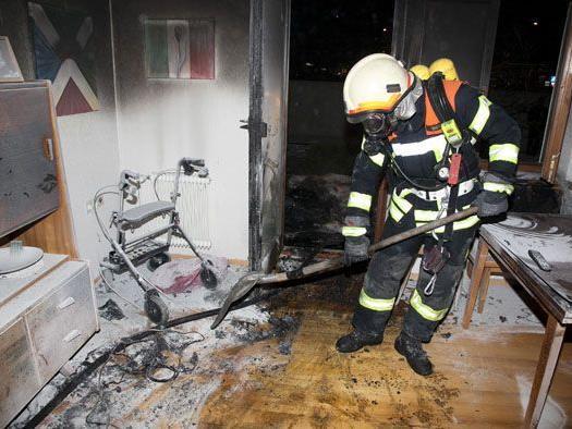Götzis: Die Feuerwehr musste nach einem Zimmerbrand ausrücken.