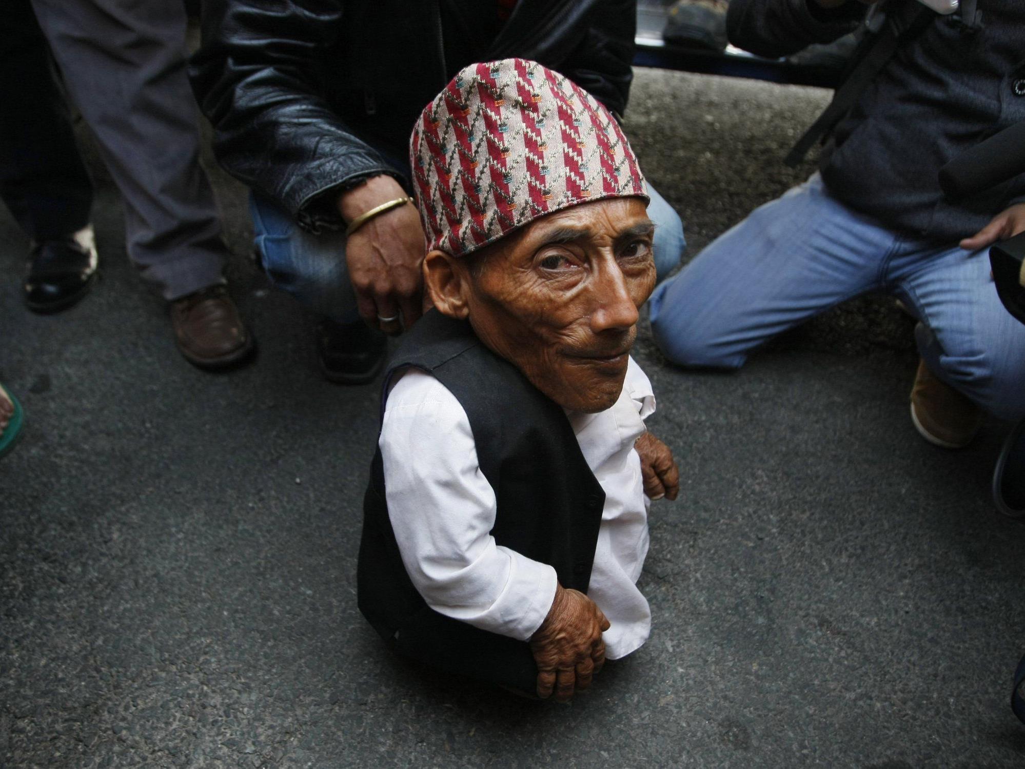 """Chandra Bahadur Dangi beansprucht nun den Titel """"Kleinster Mann der Welt"""" für sich."""