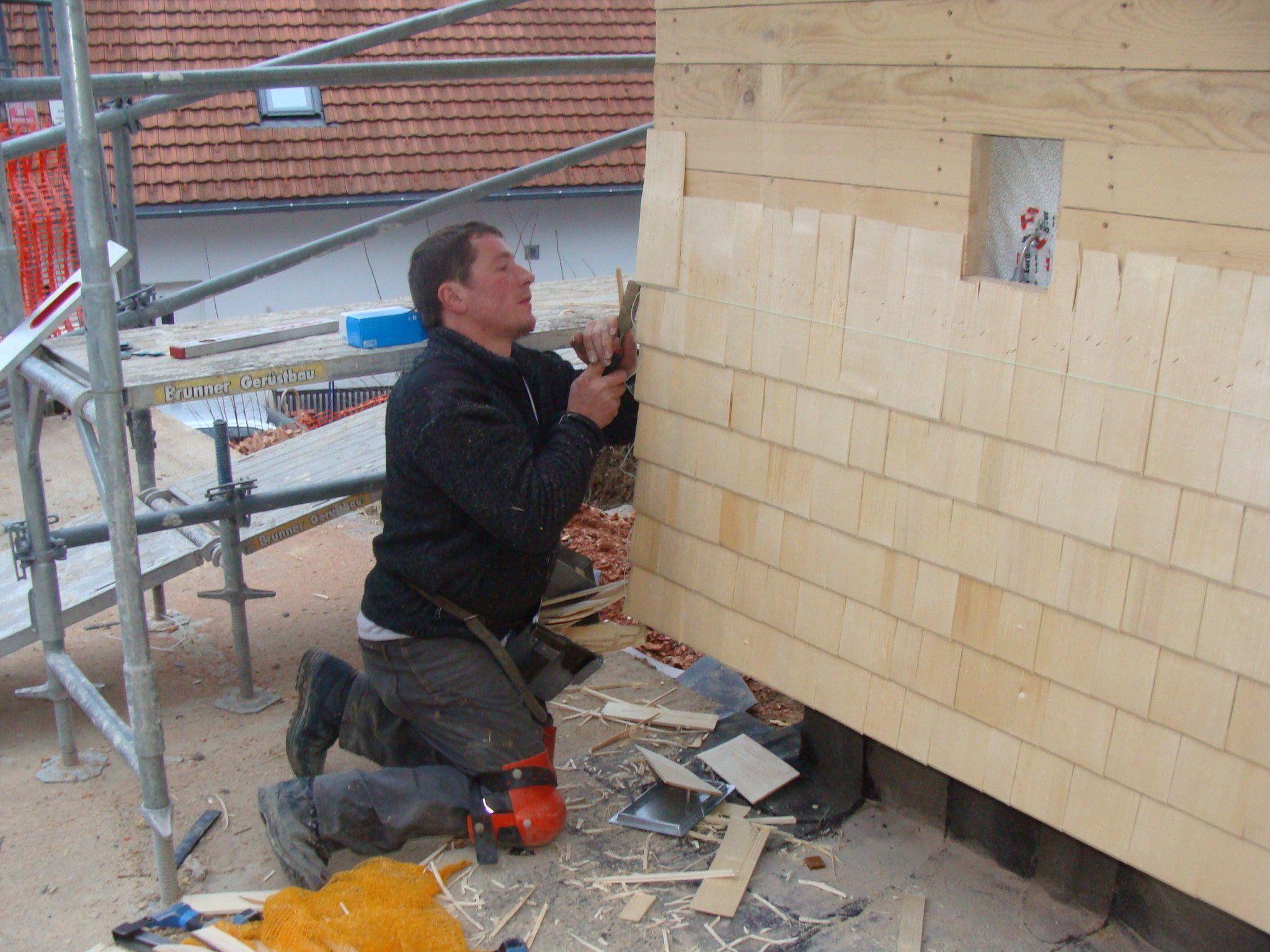 Fassadenarbeiten voll im Gange