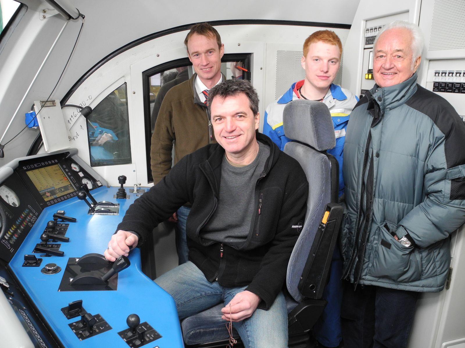 Beim Tag der offenen Tür in der ÖBB-Lehrwerkstätte wurde auch der Beruf des Lokführers vorgestellt