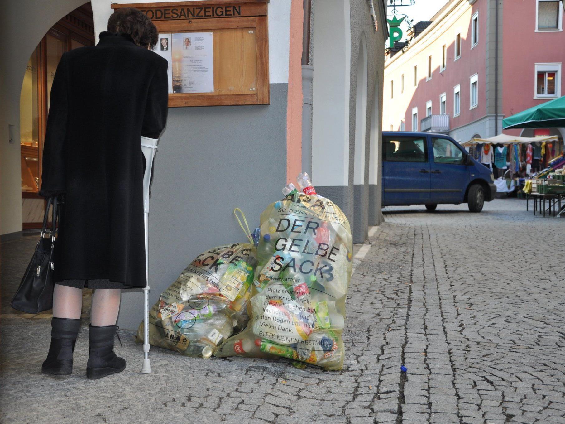 Die Umstellungen in der Bludenzer Innenstadt werden teils ignoriert.