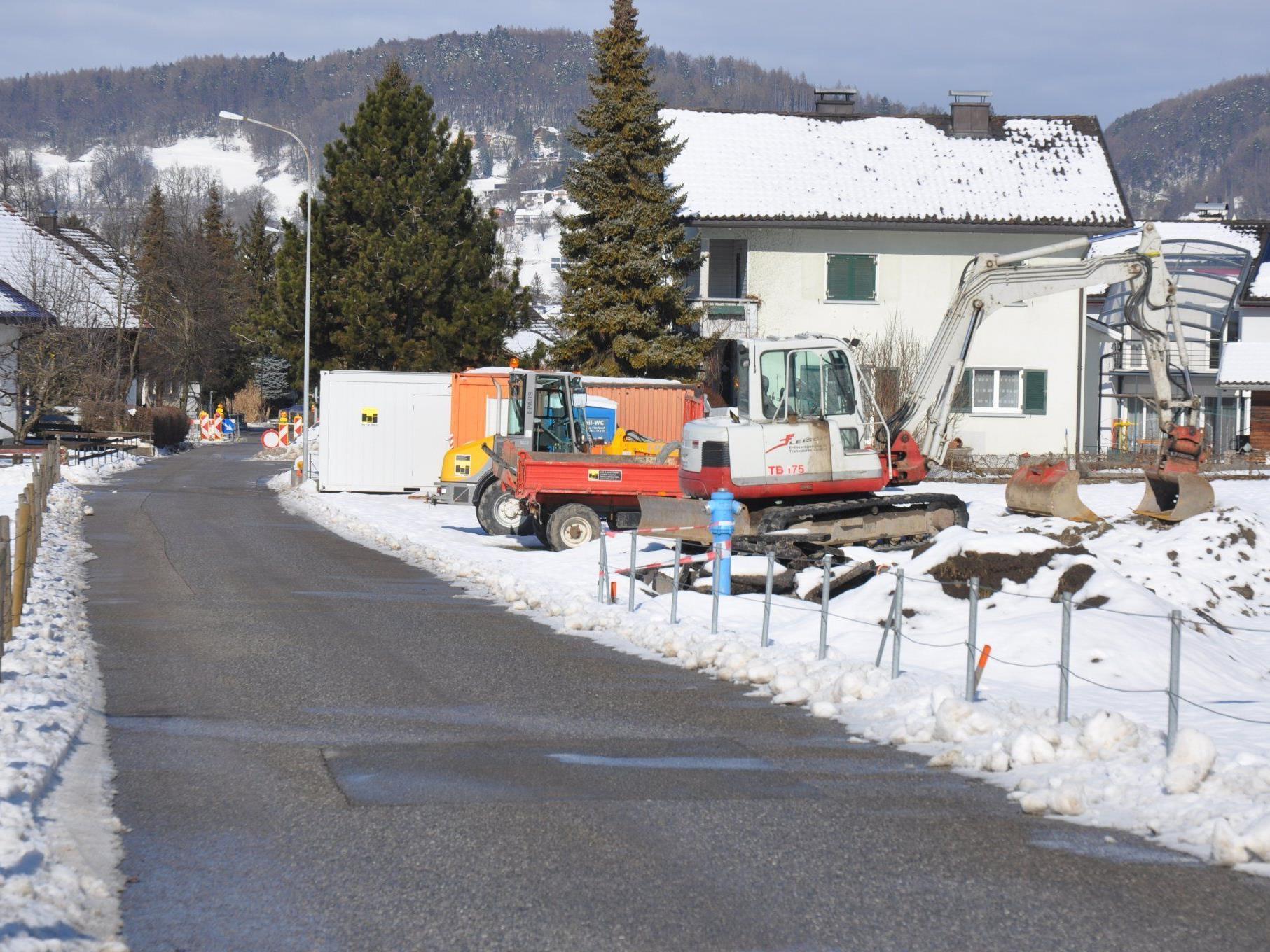 Baustop bei der Wasserversorgungsanlage Roemerweg aufgrund der großen Kälte