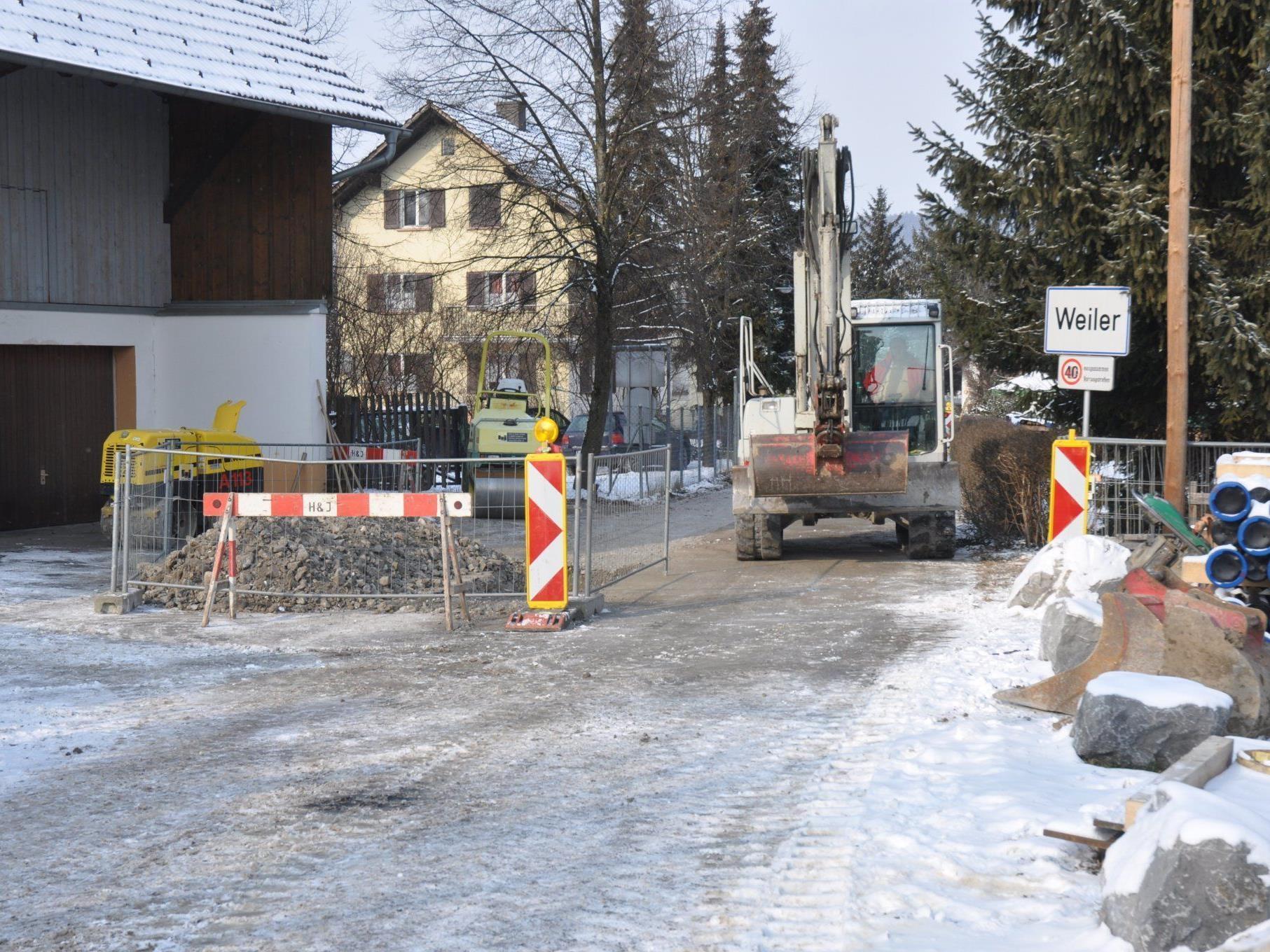 Die Bauarbeiten an der Wasserversorgungsanlage verlaufen planmäßig.