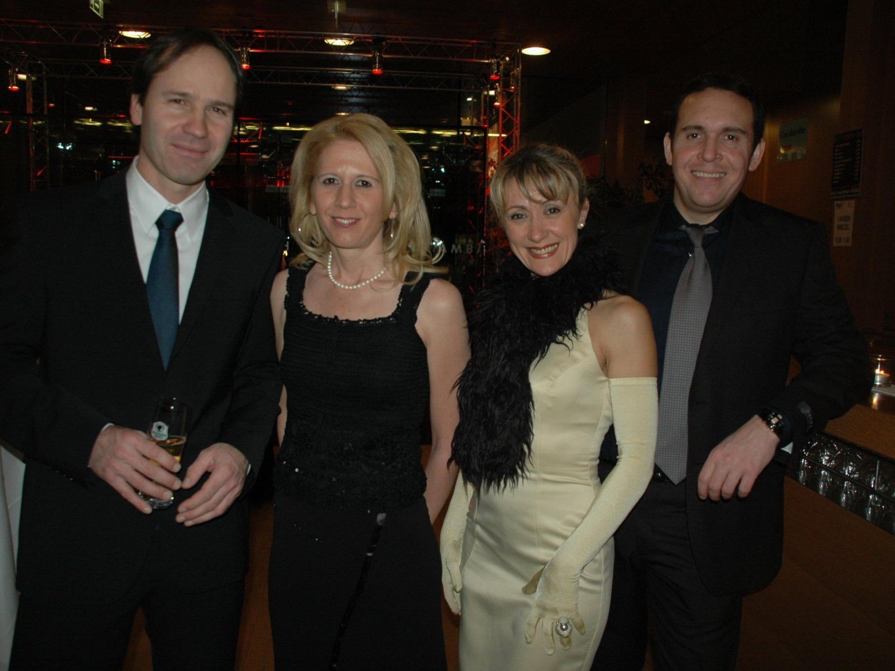 In Ballstimmung: Harald Türtscher, Manuela Lampert, Slava Novkovic & Roman Rebholz