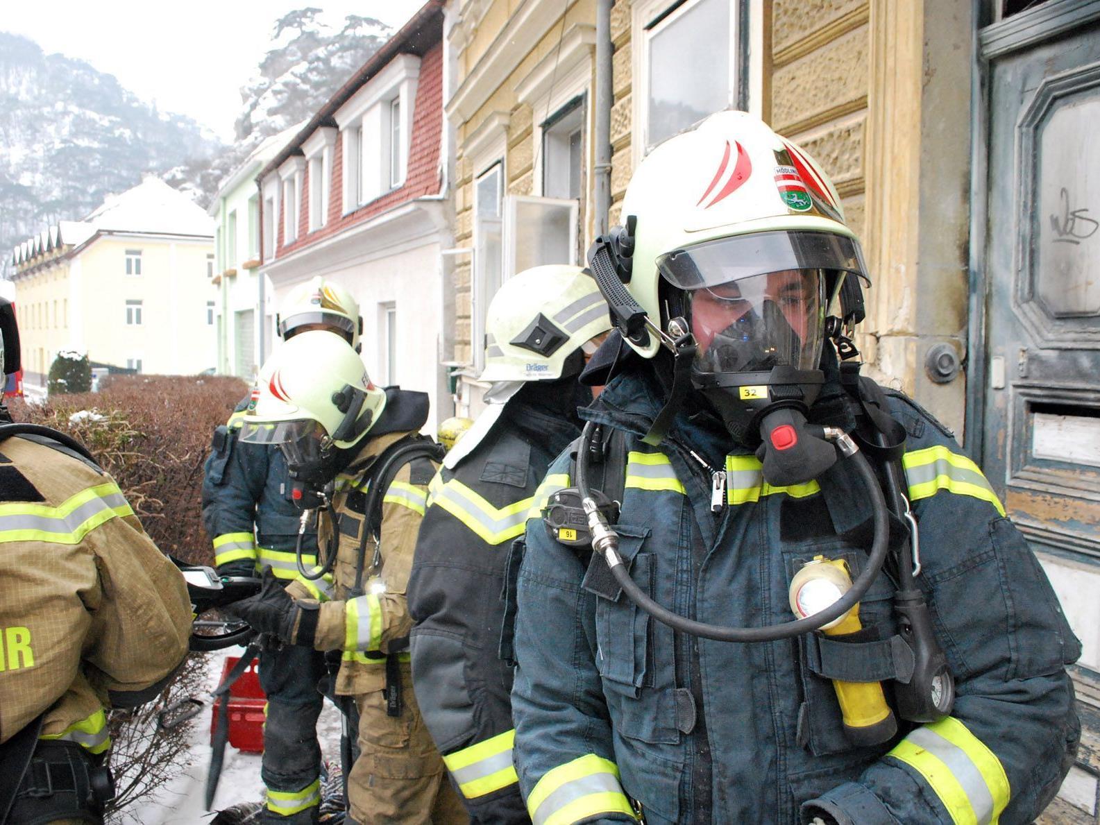 Die Männer mussten unter Atemschutz das Feuer bekämpfen.