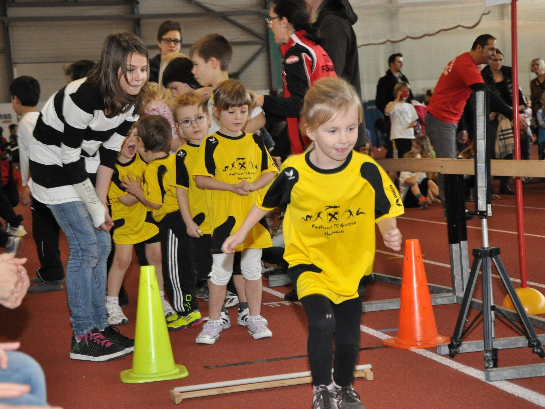 Die kleinen Teilnehmer waren mit großer Begeisterung bei der Sache.