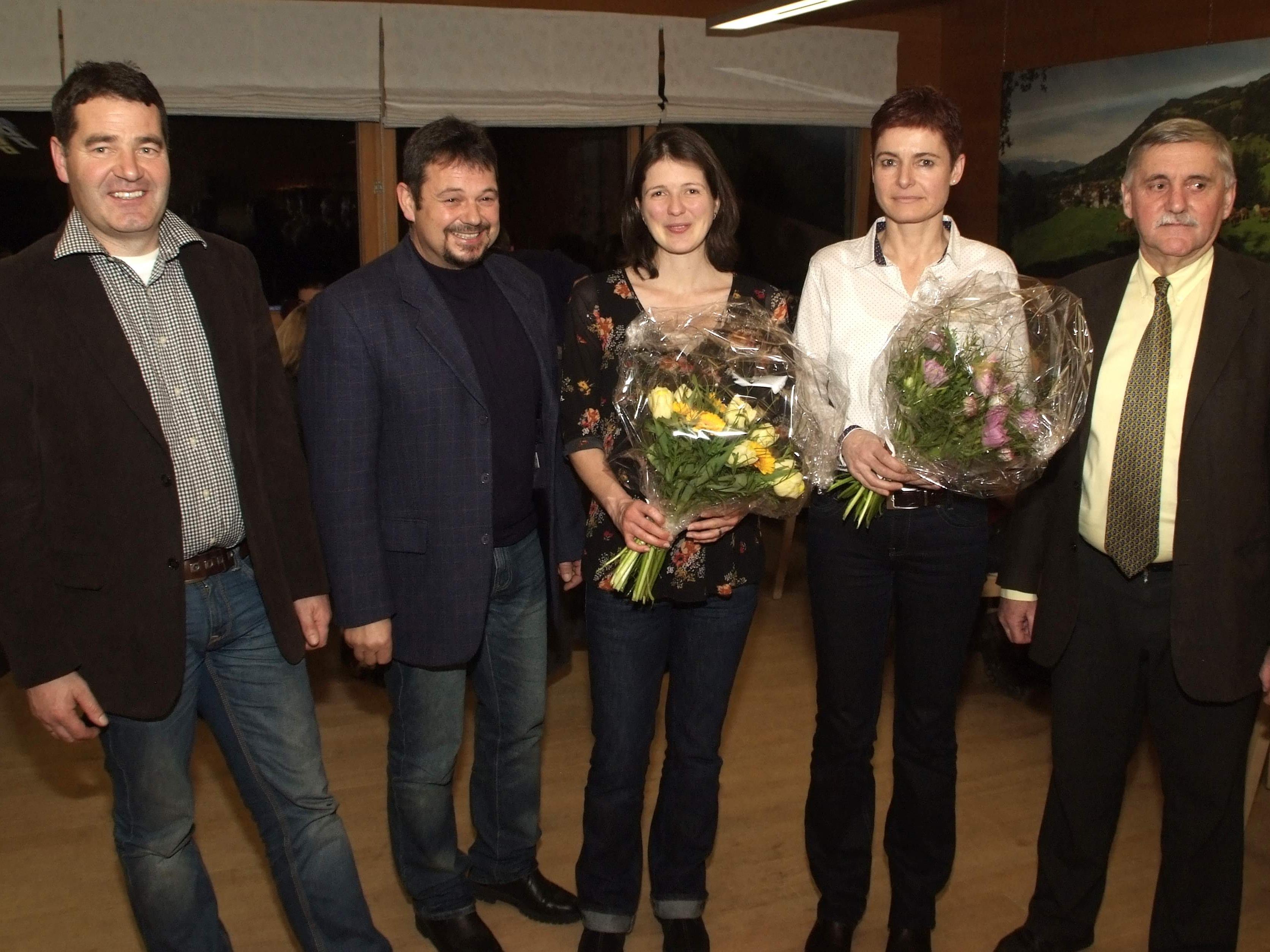 Die Dreiklang-Bürgermeister verabschiedeten Sabine Duelli und begrüßten Gabi Strolz.