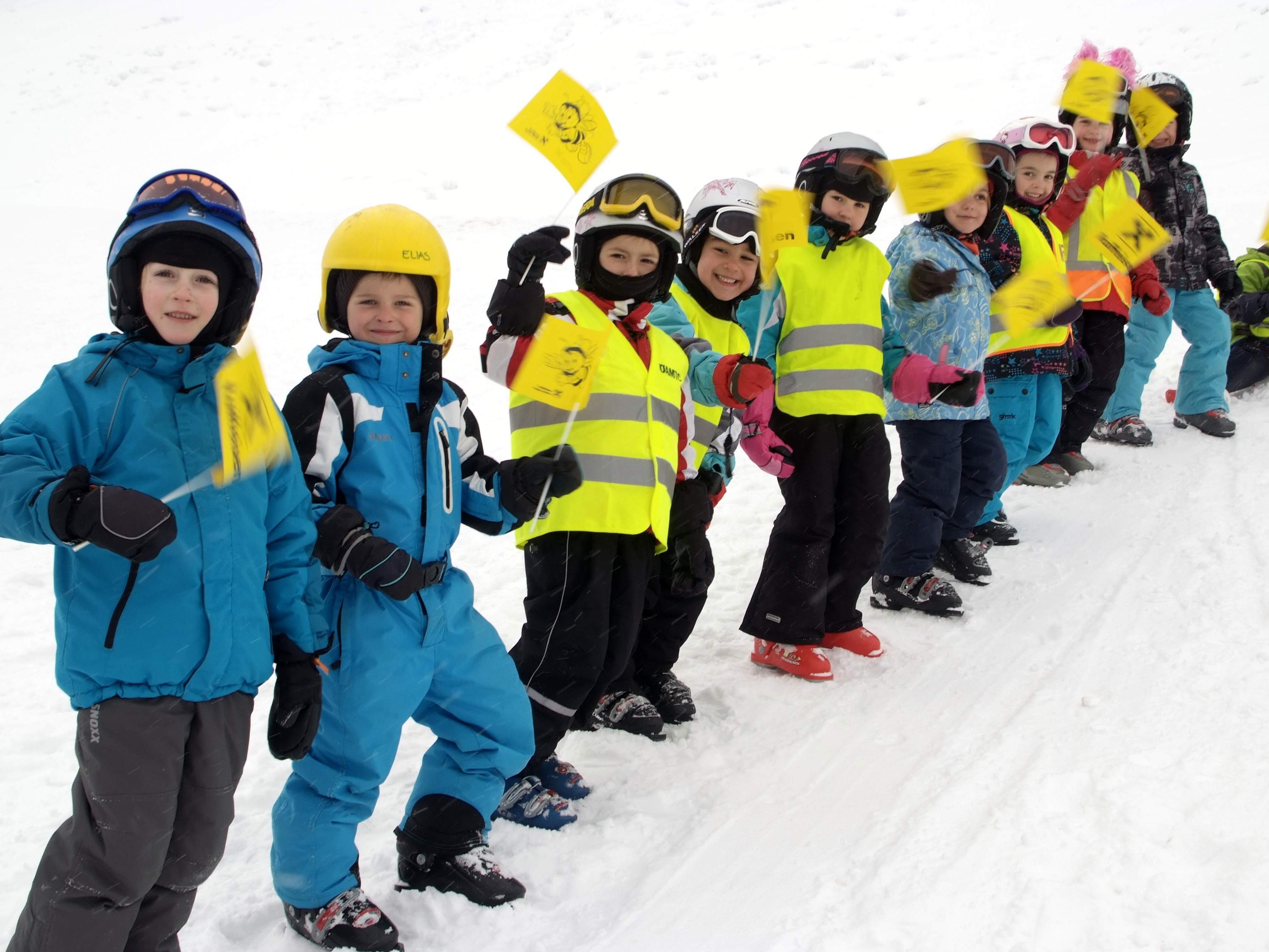 Spaß im Schnee hatten die Kids des Bewegungskindergartens Thüringen.