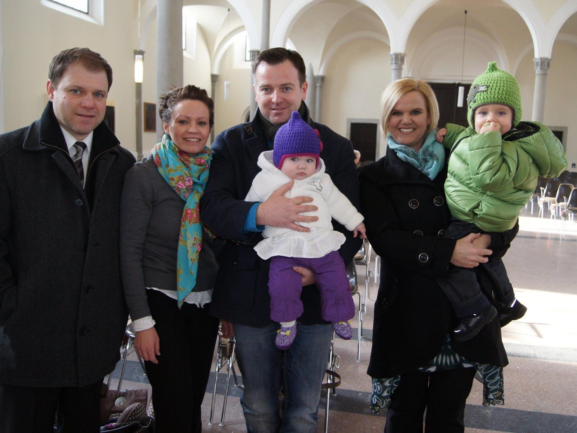 Taufe von Emma Margreth Rudigier in der Pfarrkirche Hard