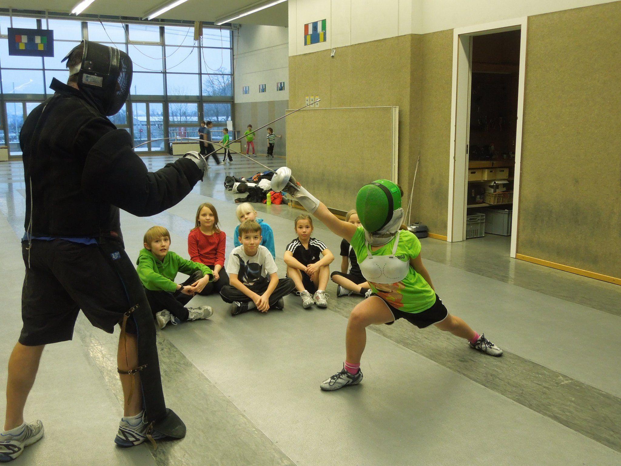 In der Messehalle 7 finden die Fechter optimale Trainingsbedingungen vor.