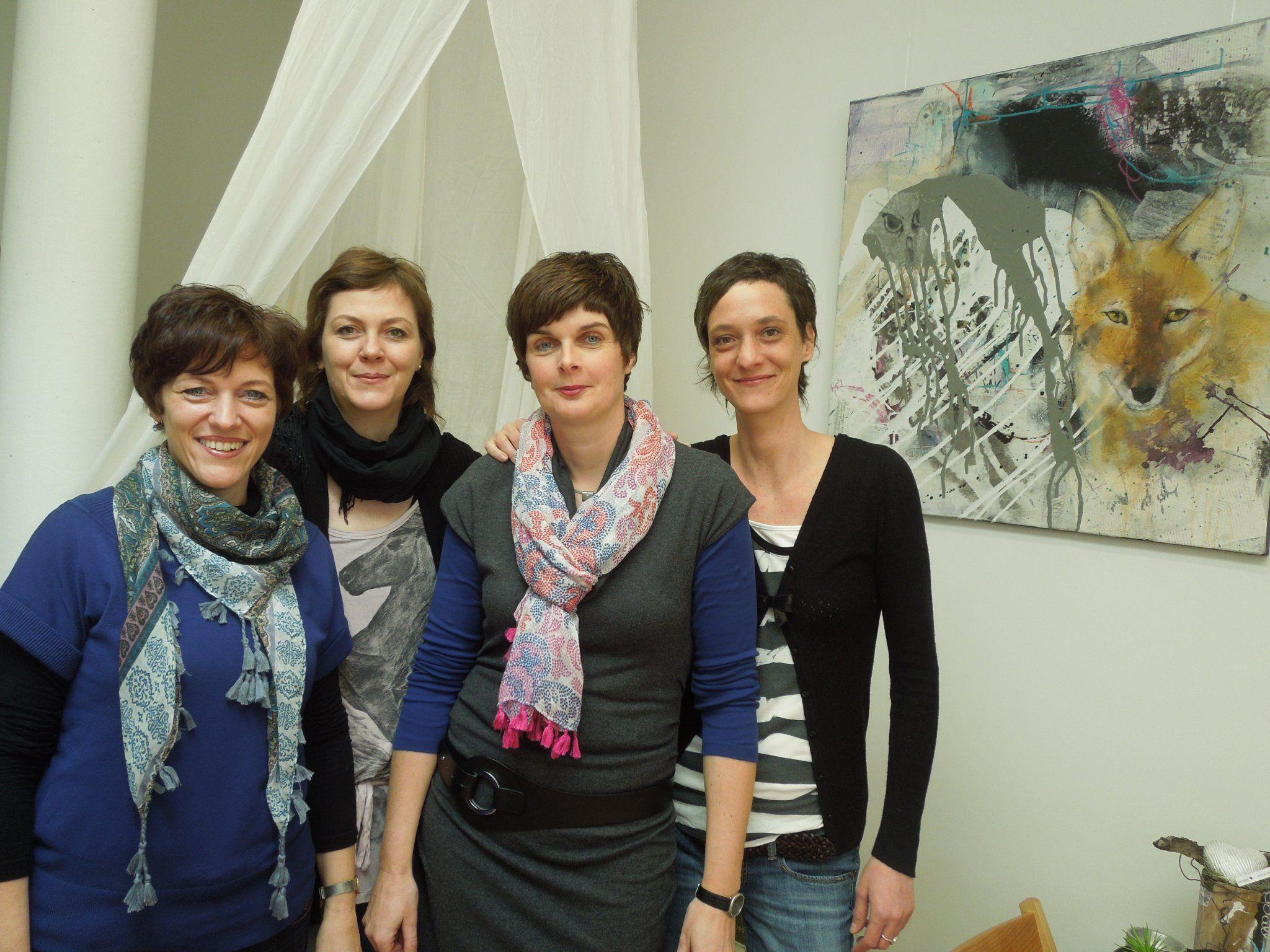 Kreative unter sich: Evi Coric, Christine Stauss, Ulli Moosmann und Elke Krainer.
