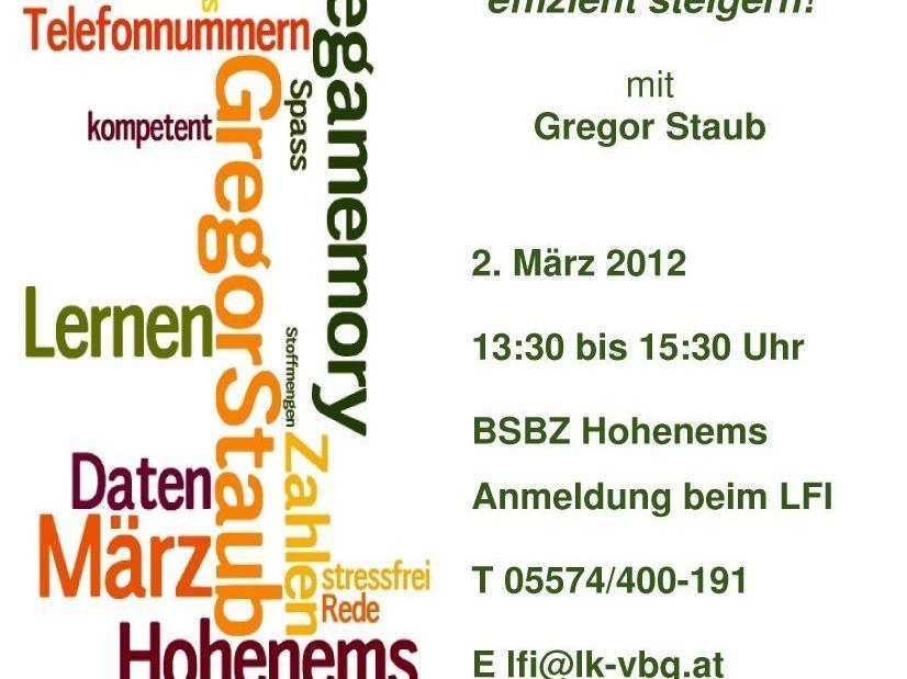 Gregor Staub - Europas bester Gedächtnistrainer kommt zu Besuch!