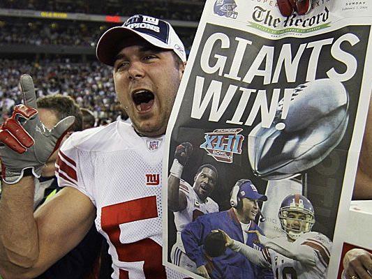 2008 holten die New York Giants als Außenseiter gegen die New England Patriots den Titel in der Super Bowl XLII..