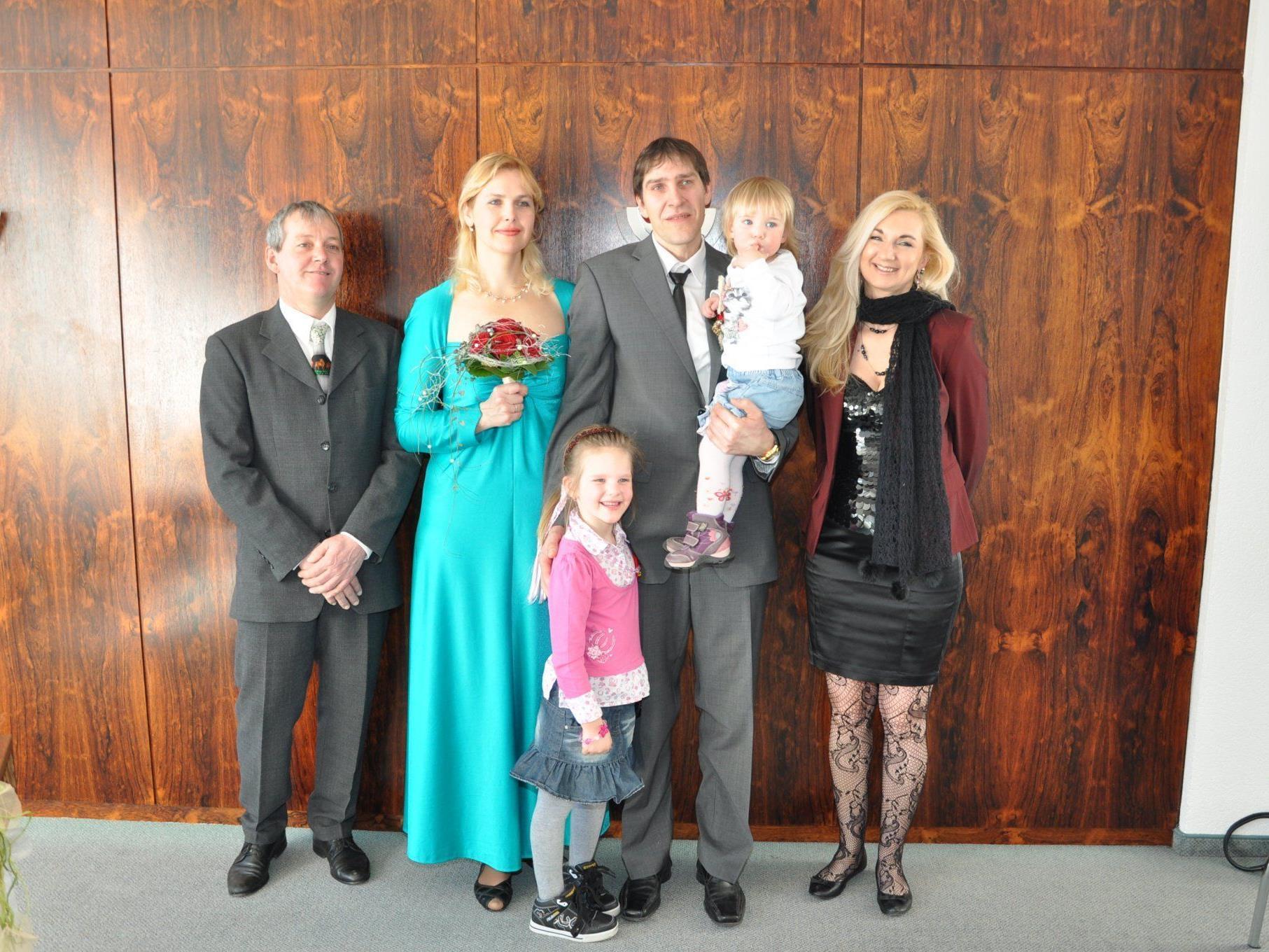 Larisa Simonenko und Johann Forster haben geheiratet