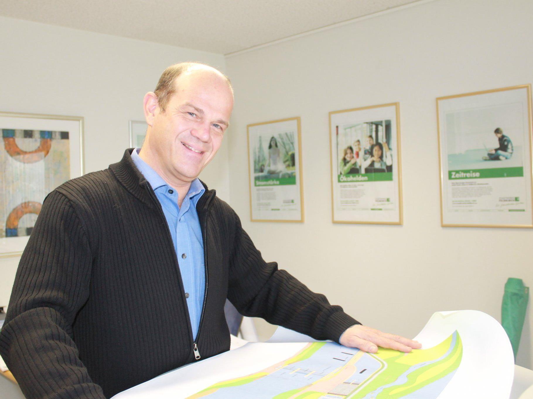 Der Leiter der Stadtwerke DI Dr. Manfred Trefalt