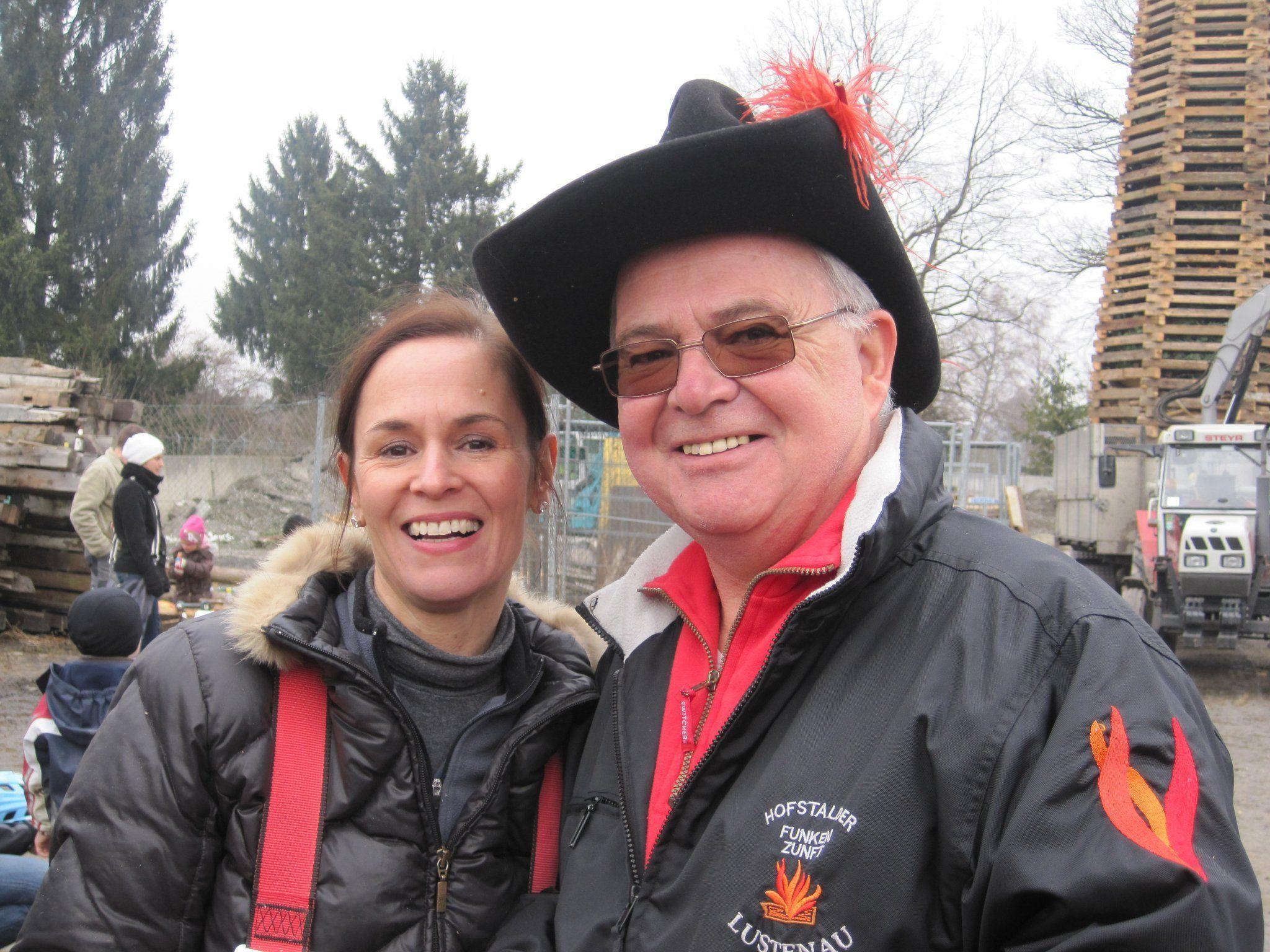 Beate Fischer, die Gattin des Lustenauer Bürgermeisters Dr. Kurt Fischer, bewies Mut