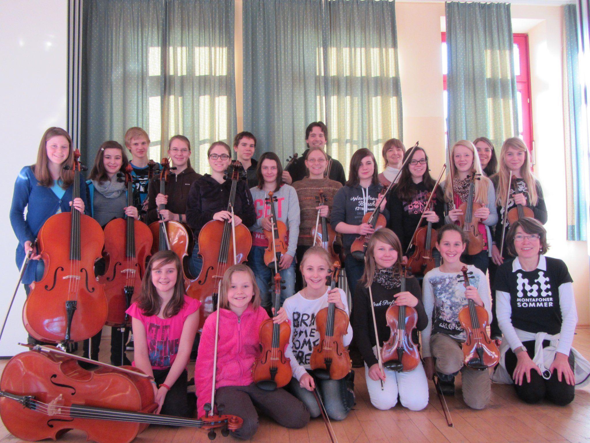 Die Streicher der Musikschule Montafon verbrachten ein Intensiv-Probenwochenende in Bregenz.